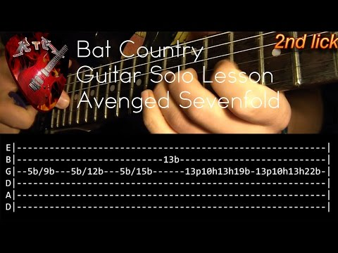 Bat Country Guitar Solo Lesson - Avenged Sevenfold (with tabs)