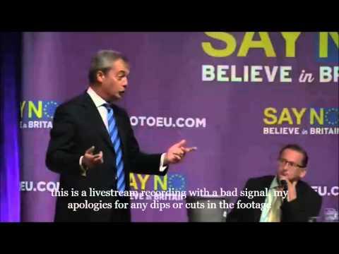 NO to the EU Margate Nigel Farage Q&A