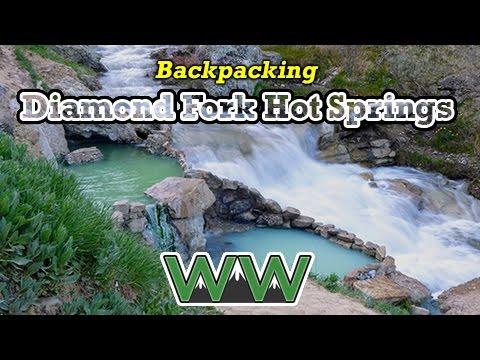 Backpacking Diamond Fork Hot Springs