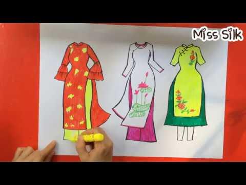 Ve ao dai Viet Nam 2   How to draw Vietnamese traditional long ...