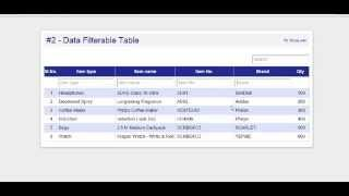 Programming Logic - #2  [HTML/JQUERY Table Filter](Please subscribe my channel. Source code (download link): http://developersurajjain.blogspot.in/2015/01/programming-logic-2-htmljquery-table.html., 2015-01-07T18:22:09.000Z)