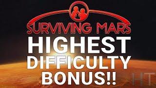 Surviving Mars - HIGHEST DIFFICULTY BONUS - 535% Setup and Location Guide - Hardest Start