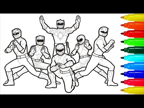 Mighty Morphin Power Rangers Coloring Pages | Colouring Pages for Kids