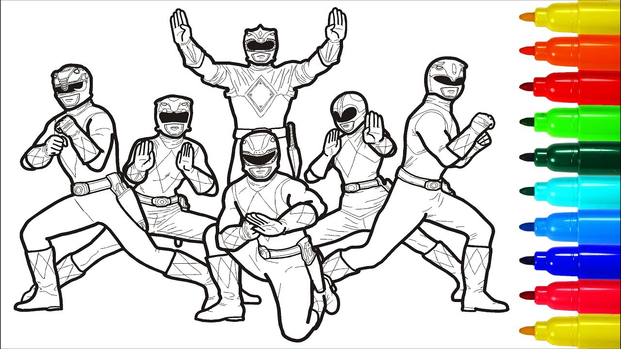 power rangers coloring page # 6