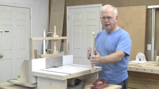 Shelf Edge Trimming On The Horizontal Router Table