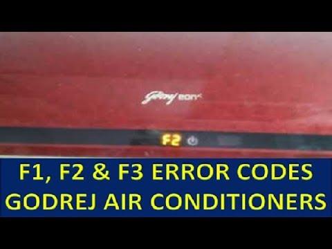 error codes E4, E5, E6, F1, F2, F3 in Godrej air conditionder | fixing of errors code issues in AC