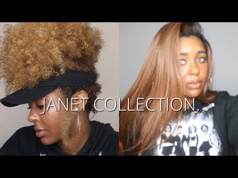 YAAAS!! JANET COLLECTION WIG HAUL & TRY ON  AFFORDABLE SYNTHETIC WIGS