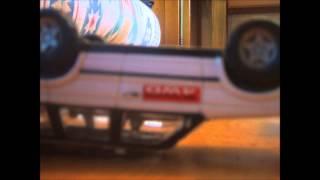 animation de voiture qui fait un accident avec les pompier qui arrive