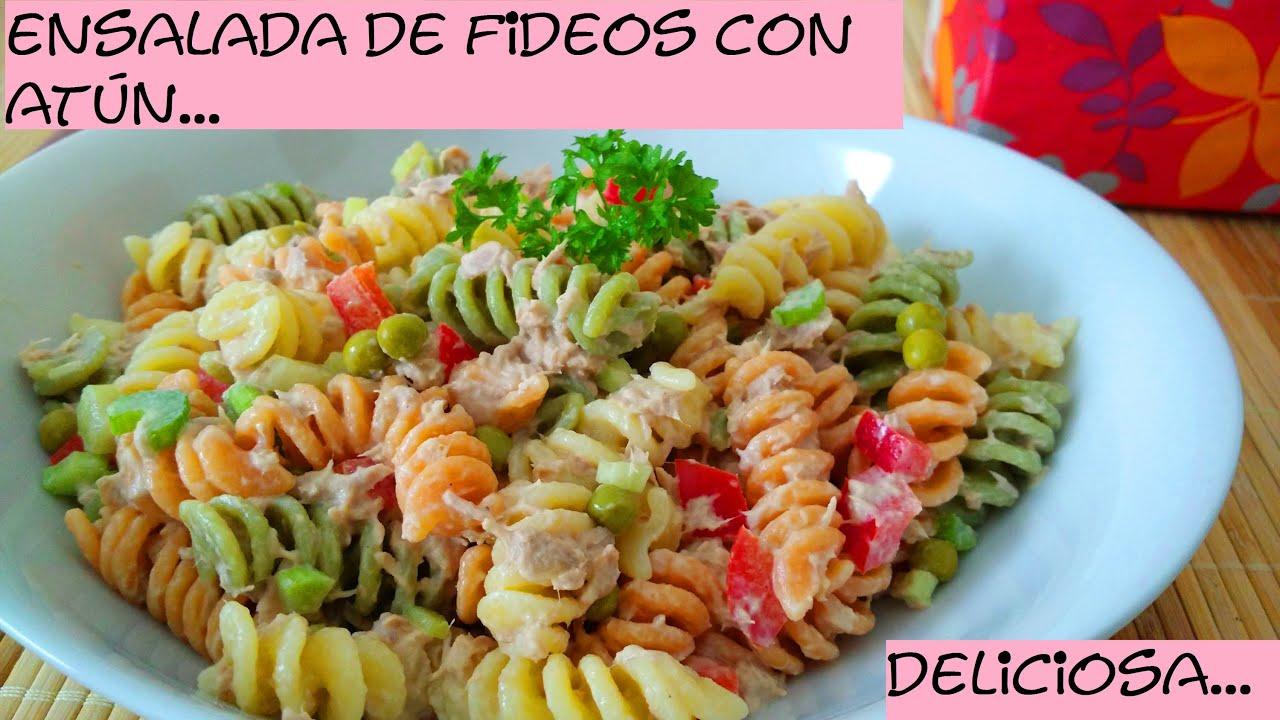 Ensalada de Fideos con Atún!! super facil - YouTube