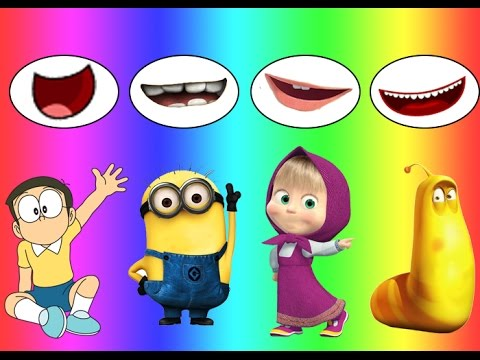 Thumbnail: Colors for children Wrong Mouth Bad Baby Nobita Dora Minions Larva Family Song Nursery Rhymes