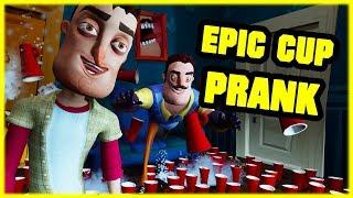 EPIC CUP PRANK ON MY NEIGHBOR! - Hello Neighbor Mod