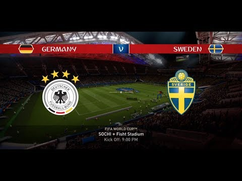 EA Sports FIFA 18 World Cup Mode Prediction / GROUP F - GERMANY Vs SWEDEN In 1080p #28