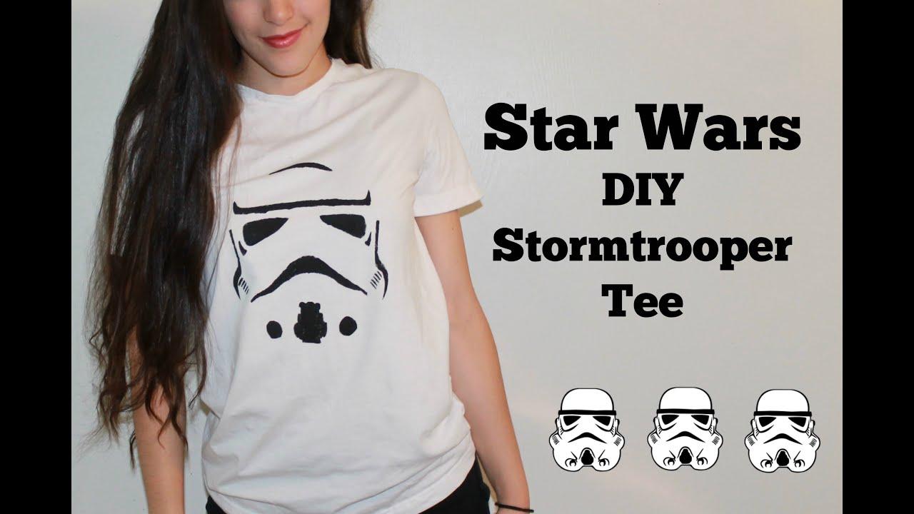 Star wars diy stormtrooper tee youtube solutioingenieria Image collections