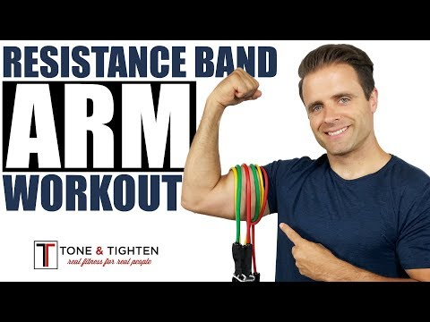 Resistance Band Arm Workout - 6 Best Resistance Band Exercises To Tone And Strengthen Your Arms