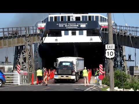 SS Badger car ferry from Manitowoc to Ludington