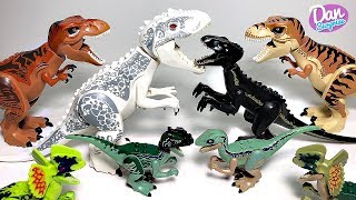 ALL 17 LEGO JURASSIC WORLD FALLEN KINGDOM DINOSAUR TOYS! INDOMINUS REX, INDORAPTOR, T-REX & MORE