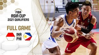 Indonesia v Philippines - Full Game - FIBA Asia Cup 2021 Qualifiers