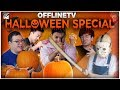 PUMPKIN CARVING WITH SWORDS | OFFLINETV HALLOWEEN SPECIAL ft. LILYPICHU, SCARRA FED, & MORE