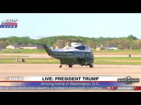 WATCH: President Trump Arriving In Washington, D.C. (FNN)