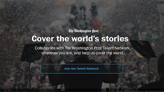 Introducing the Washington Post Talent Network