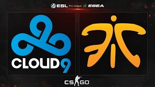 CS:GO - Cloud9 vs. fnatic [Dust2] - ESL ESEA Pro League Finals - Grand Finals Map 4