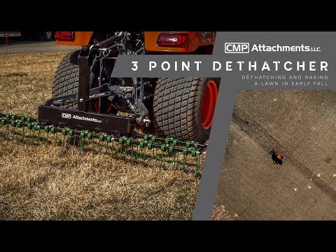 Tractor 3 Point Dethacther Rake | CMP Attachments - YouTube