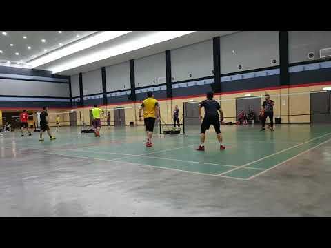 Badminton SUBC Open Court Akmal & Ekey Vs Aiman & Wong