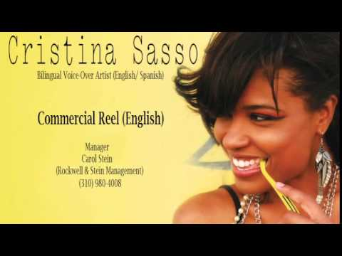 Cristina Sasso English Commercial VO Reel