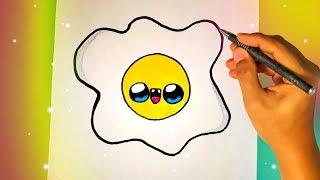 Как нарисовать милую ЯИЧНИЦУ? Лёгкие рисунки для детей и начинающих №375