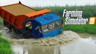 УТОПИЛИ В РЕКЕ КАМАЗ С НАВОЗОМ ДЛЯ АГРОНОМА - Farming Simulator 19