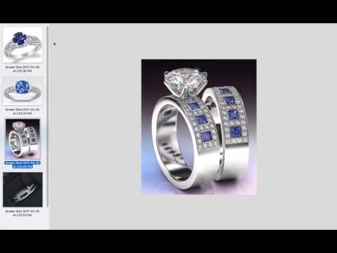 SAPPHIRE DIAMOND ENGAGEMENT RING | Design Thoughts for Amy's Engagement Ring  |  Vanessa Nicole