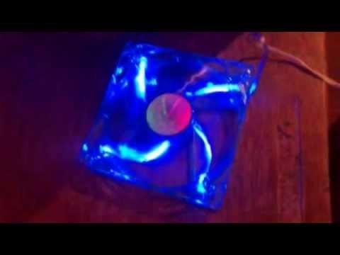 Вентилятор DEEPCOOL 120x120x25 синий, голубая подсветка, реагирует на ультрафиолет...