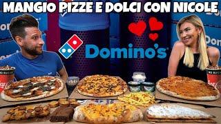 MANGIO PIZZE e DOLCI della DOMINO'S con NICOLE HUSEL (MUKBANG STYLE) - MAN VS FOOD