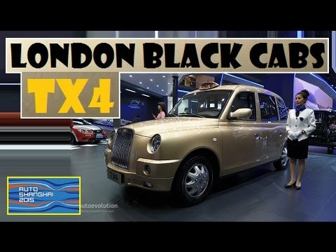 London Black Cabs TX4, live photos at Auto Shanghai 2015