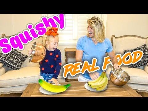 EXTREME SQUISHY FOOD VS REAL FOOD!!! (Kids vs. Adults)
