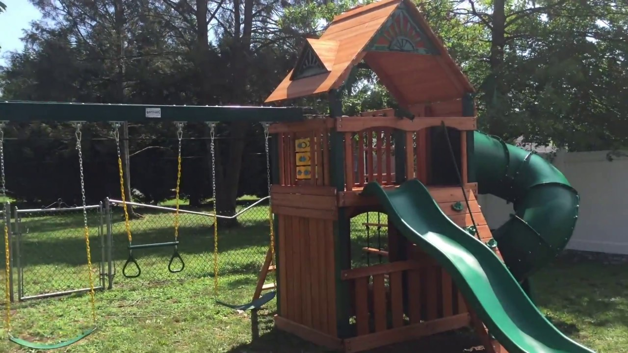 Gorilla Mountaineer Clubhouse Wood Roof Playset Review Youtube
