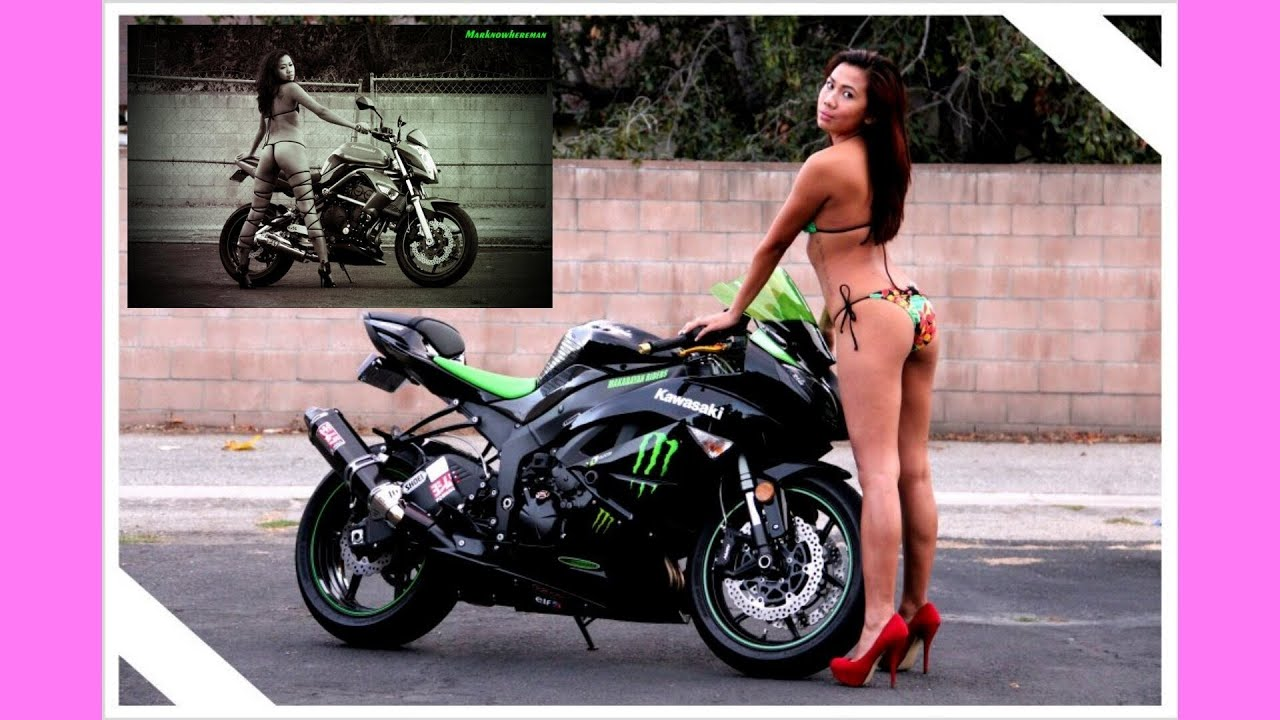 naked filipina on a motorcycle