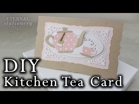 Vintage Kitchen Tea Card   DIY Invitation tutorial using metal dies