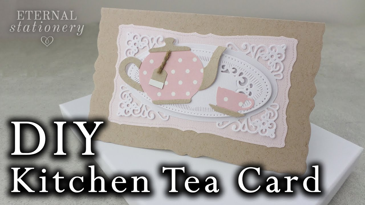 vintage kitchen tea card diy invitation tutorial using metal dies