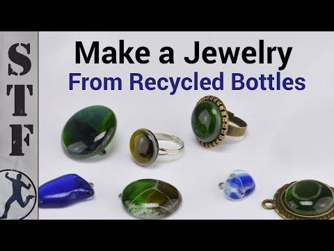 DIY Jewelry from Glass Bottles | Microwave Kiln #1