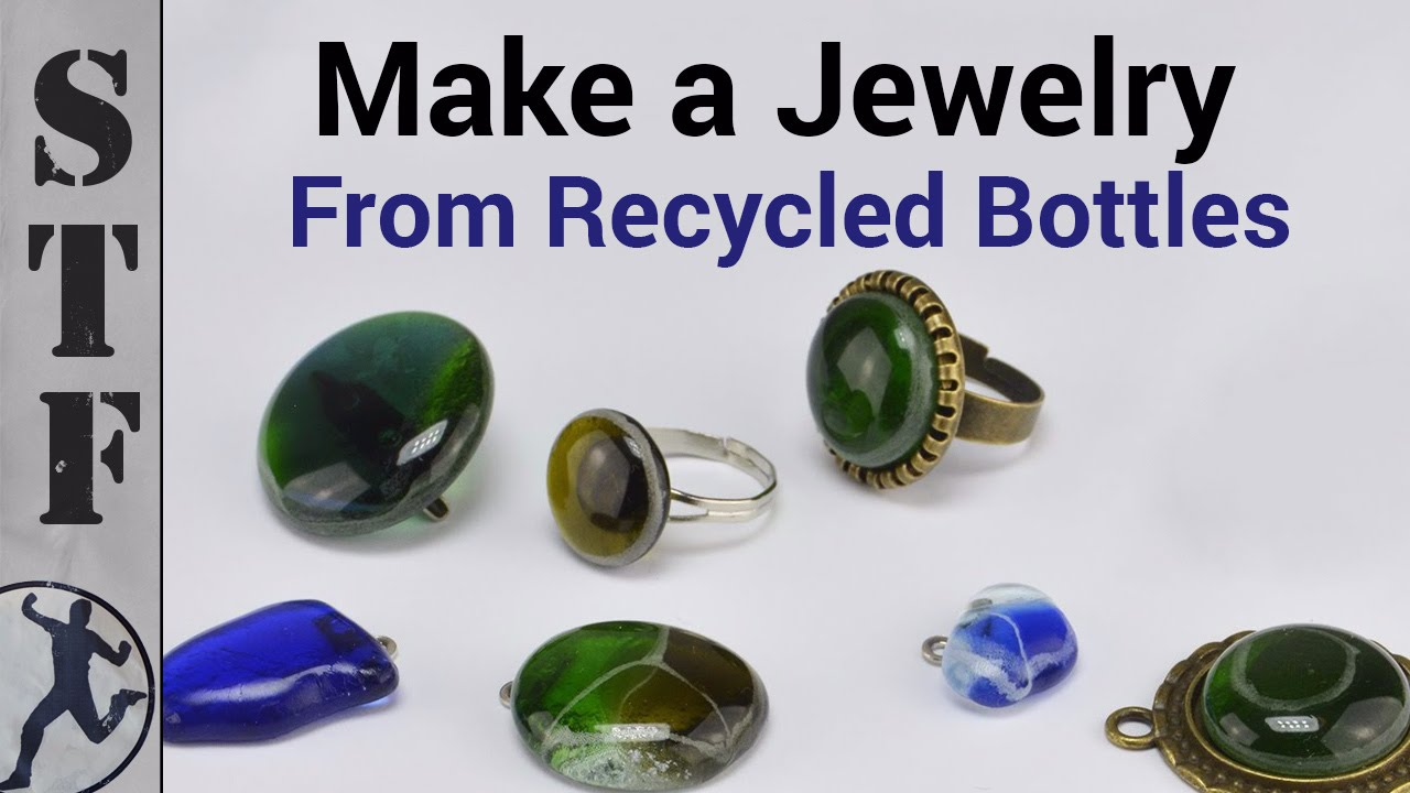 Diy Jewelry From Glass Bottles Microwave Kiln 1 Youtube