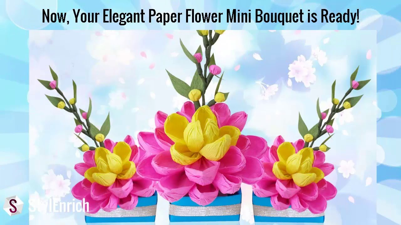 Diy easy paper craft how to make a pretty crepe paper flower diy easy paper craft how to make a pretty crepe paper flower bouquet diy room decor youtube mightylinksfo