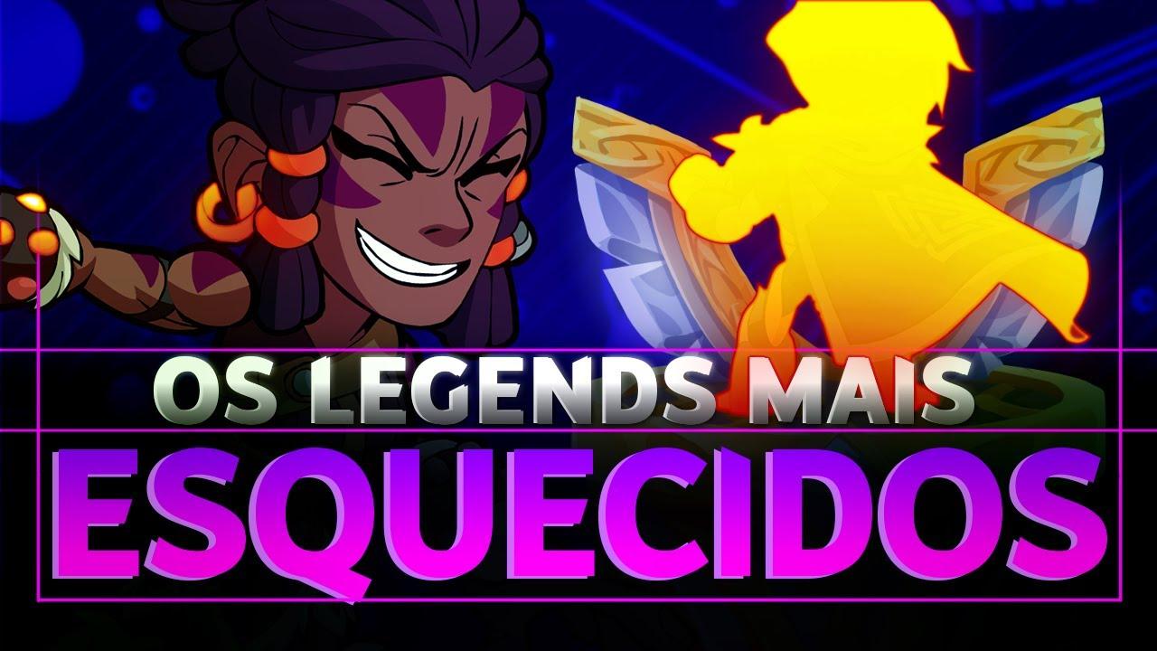 TOP 10 LEGENDS COM O MENOR PLAYRATE DA COMUNIDADE TODA