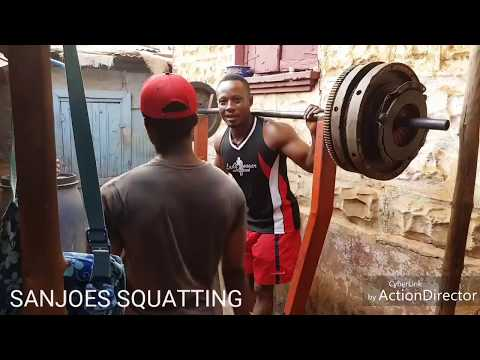 AFRICA'S BACK YARD GYM SQUATTING SESSION