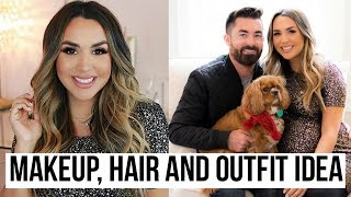 HOLIDAY PARTY MAKEUP, OUTFIT & HAIR GRWM | ALEXANDREA GARZA