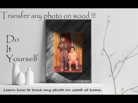 PHOTO ON WOOD BLOCK. DETAILED PROCESS OF PHOTO TRANSFER ON WOOD. DIY WOODEN PHOTO FRAME