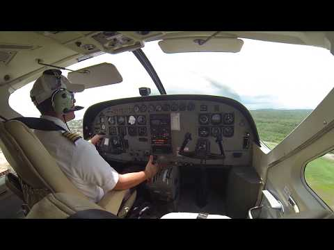 Cessna 208 Caravan - Maya Island Air Belize - Bird strike [Cockpit view] [Full flight]