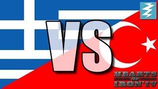 Greece Vs Turkey Ep4 - Hearts of Iron 4 (HOI4)