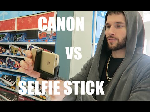 canon vs selfie stick youtube. Black Bedroom Furniture Sets. Home Design Ideas