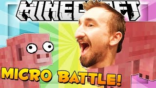 Minecraft Micro Battles FUNNY MOMENTS - CRAZY TRIPLE KILL